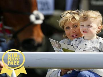 A Mother and Child enjoy a days racing